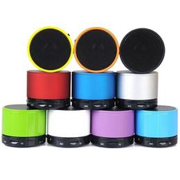 Mini localizador móvel portátil on-line-Mini Speaker Bluetooth s10 telefone 2015 Sem fio Micro USB ao ar livre falante de música portátil para celular MIS059