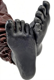 Wholesale Sexy Foot Wear - Hot Sale!Sexy Latex Rubber sock with five toe socks Anatomical 3D mold feet Seamless socks Wear New erotic latex fetish sock LBH-100