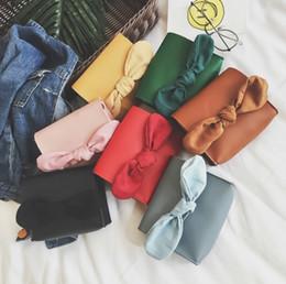 Wholesale Big Green Purse - Korean Children handbag Fashion Big Bow Mini Shoulder Bags Cute Bowknot Fashion Children Messenger Bag Change Purse C2387