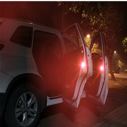 Wholesale Red Safety Light - Car Door Safety Light Reflector   Anti-Collision Warning LED Lights, New Proximity Switch System, Instant Switch On Off, No Wiring,