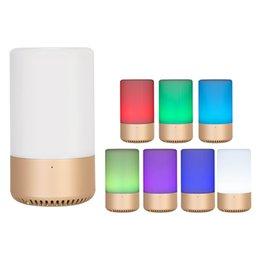 App-lautsprecher online-APP / Touch Control Drahtloser Bluetooth-Lautsprecher TF-Karte AUX-Originalitätslautsprecher RGB Emotionale Eskorte Music Bulb LED-Tischlampe Home-Lautsprecher