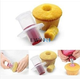 Wholesale Muffin Cutter - Kitchen Cupcake Corer Kitchen Craft Cupcake Muffin Cake Plunger Corer Cutter Decorating Baking Tool Decorating Divider Model
