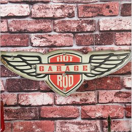 Wholesale Hot Rod Neon Sign - Hot Rod Garage retro Vintage Neon Sign Decorative painting LED metal signs bar Cafe Cerveja Shabby chic wall decoration signboard