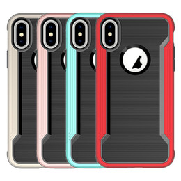 Wholesale Blue Hybrid - For Iphone X Case Hybrid soft TPU Hard PC Back Cover Phone Case For iphone x 8 8plus