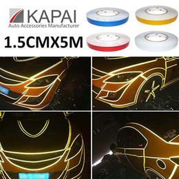Wholesale 3m Brand Tape - Wholesale-1.5CMX5M Car Reflective Tape Reflective Warning Tape Sticker Original 3M Brand Car sticker