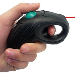 Wholesale Laser Pointer Trackball Mouse - Retail wireless 2.4G air mouse handheld trackball mouse with laser pointer for teachers drop shipping