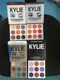 Wholesale Wholesale Cosmetics Free Shipping - in stock!! Kylie Cosmetics Jenner Kyshadow eye shadow Kit Eyeshadow BRONZE and BURGUNDY Palette Preorder Cosmetic 9 Colors Free Shipping