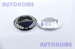 Wholesale Ac Schnitzer Badges Emblems - 10 x EPOXY 82mm Black AC SCHNITZER Hood Car Emblem Sticker Badge Logo order<$18no track
