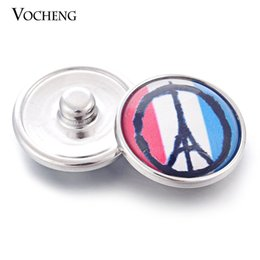 Wholesale Ginger Pieces - 18mm 2 Colors Vocheng Snap War and Piece Symbol France Paris Eiffel Tower Resin Ginger Snap (Vn-969) Free Shipping