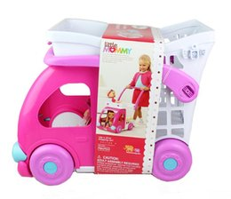 Wholesale Lovely Kids Shop - [New arrival] [Hot sale] Dolls accessories shopping cart Plastic lovely baby cart model Birthday gift suitable