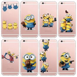 Wholesale Despicable Silicon Iphone - Latest Silicon Cover Despicable Me Yellow Minion Case For Apple iPhone 5 5s 6 6s Soft Clear Phone Cases Shell A5