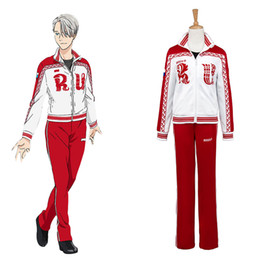 Wholesale Yuri Costume - New Anime Viktor Nikiforov Costume Yuri on Ice Viktor Nikiforov Uniform Cosplay Costume Made