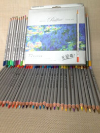 Wholesale Blue Colored Pencils - Marco 72 Colors Pencil lapis de cor Professional Non-toxic Lead-free Colored Pencil School Supplies Painting Pencils