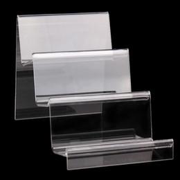 Suportes de exposição acrílicos do produto on-line-Acrílico claro Celular U Disk Jóias Titular Display Stand Produtos Digitais Bolsa Wallet Rack Vitrine Organizador