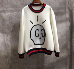 Wholesale Loose Skull Sweater - kanye west ripndip stu Couples dress new tide all-match personalized version of sweater