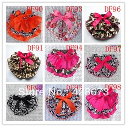 Wholesale Baby Ruffle Bloomers Satin - Wholesale-Halloween baby ruffled satin bloomers wholesale halloween skull print bloomer baby ruffle diaper cover 10 pcs lot free shipping
