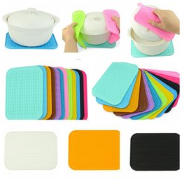 Wholesale Table Dishes - Silicone Dish Drying Mat Placement Non-slip Cup Coaster Heat Resistant Pot Holder Dining Table Placemat Kitchen Accessories KKA3237