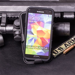 Wholesale Future Covers - Wholesale-Future Armor Impact Holster Hard Case for Samsung Galaxy S5 I9600   S5 Mini G800   S5 Active G870 Phone Cover + Flim + Stylus
