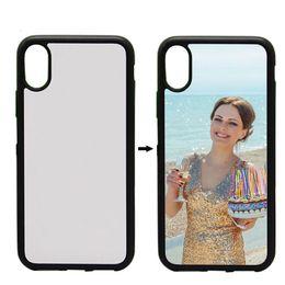Wholesale Case Iphone Transfer - Rubber TPU+PC Sublimation Cover Case 2D For Apple iPhone X 7 8 6 6s Plus Heat Transfer Cover 100pcs