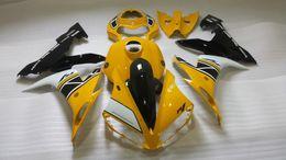 2019 noir jaune yamaha r1 Kit carrosserie carénage injection pour YAMAHA YZFR1 2004 2005 2006 Carrosserie YZF R1 YZF-R1 YZF1000 R1 04 05 06 Ensemble carénage noir jaune + cadeaux promotion noir jaune yamaha r1
