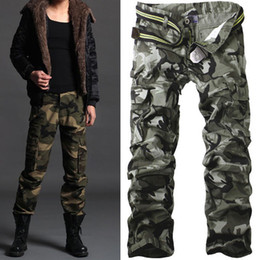 Wholesale Military Combat Trousers - Men's Casual Cotton Military Army Cargo Camo Combat Work Pants Trousers R50 Asian Tag Size 28-38 (No Belt)