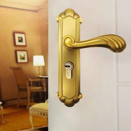 Wholesale Mechanical Door Locks - New Modern style Home door lock Bedroom door lock Simple Mechanical locks Zinc Alloy Material with three keys