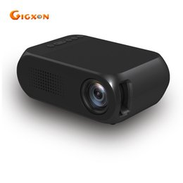 Wholesale hdmi input tv - Wholesale- Gigxon G320 Portable LCD Projector 400-600 LM Support USB SD AV HD Input for HD Video Home Theater Cinema Game TV Showing beamer