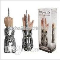 Wholesale Neca Assassins Creed Gauntlets - Wholesale-Free Shipping 1:1 1pcs NECA Assassins Creed Hidden Blade Brotherhood Gauntlet Replica Cosplay Assassin's Creed Anime juguetes