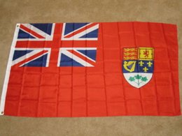 Wholesale red flag canada - OLD CANADA RED ENSIGN PRE 1965 CANADIAN NAVAL FLAG City Country banner flag Custom Football Hockey Baseball any Team House Divided Flag
