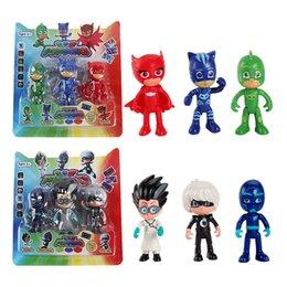 Conjuntos 3PCS / Lot PJ Figura Pjmasks herói boneca Catboy Owlette Gekko Lunar Remeo Juguete Brinquedo PJ Figura bonecas para crianças brinquedos de presente de