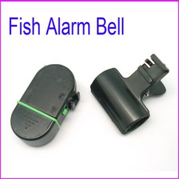 Wholesale Wholesale Fish Finders - 100pcs Outdoor Cooking Fish Alarm Bell Electronic Bite Fishing finder Rod Pole with LED light wholesale Dropshipping