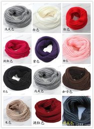 Wholesale Lycra Long Stockings - Women Winter Warm Infinity Knit Cowl Neck Long scarf Shawl infinity Scarf IN stock free shipping LB14