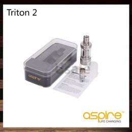 Wholesale Ego Metal Drip - Aspire Triton 2 Tank System Drip Tip Airflow Control 3.5ml Triton 0.3ohm 0.4ohm Sub ohm RBA Atomizer VS Subtank Mini eGo One 100% Original