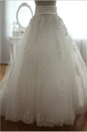 Wholesale Bridal Princess Petticoat - Plus Size Bridal Petticoats Lace Hot Cheap Women Skirt Wedding Skirts Crinoline Slip 2015 Long Prom Dresses Underskirt Petticoat Accessories