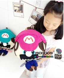 Wholesale Super Mario Backpacks For Kids - 2015 New Free Shipping Super Mario Bag Plush Child's Backpack Best Gift For Kid
