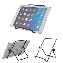 Wholesale Ipad Acer - Metal Stand multi-angle portable Holder For Tablet, E-Reader, iPad,mini ,Kindle Fire, Samsung, Galaxy, Acer, LG