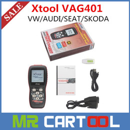 Wholesale Dtc Audi - 2015 100% original XTOOL VAG401 code reader VW AUDI SEAT SKODA obd2 scanner ABS SRS Engine DTC Code Reader Scan Free shipping