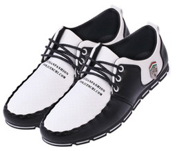 Wholesale New Style Man Dress Shoes - Free shipping brand new style Casual Shoes pu lace-up men's dress shoes fashion running shooes Sports shoes kingming618