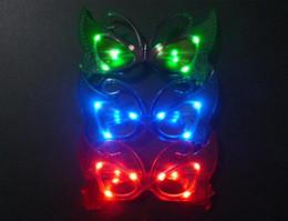 fiesta de mariposa suministros decoraciones Rebajas Gratis EMS LED Light Butterfly Glasses 2015new Parpadea la mariposa LED Flash Gafas Suministros para fiestas Festival Decoración Navidad Hollowen B