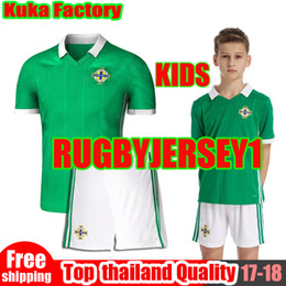 Wholesale Ireland Soccer Jersey - Northern Ireland Kids soccer Jerseys 2018 world cup kids jersey camiseta de futbol Northern Ireland Football shirts McNAIR K.LAFFERTY DAVIS