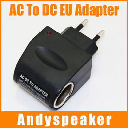 Wholesale Ac Dc Power Socket - AC TO DC Adapter EU Plug Car Charger Socket Adapter for MP3 MP4 GPS Car Power Adapter Converter 1pcs up