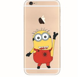 Wholesale Despicable Iphone 3d - 50pcs 3D Cartoon Cute Despicable Me Minions Case Creative Colored Drawing Cases Soft TPU Back Cover For iphone 5 5s 6 4.7inch 6 plus XY27