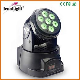 Wholesale Led Rgb Moving Head Wash - 2016 Factory Price 7pcs*10W RGB 3in1 Mini LED Moving Head Light Beam Wash Lighting for Club,Bars,KTV and Satge