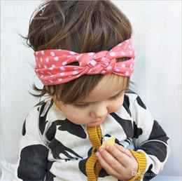 Accesorios de pelo china para las niñas online-Bebé recién nacido de algodón trenzado vendas cruzadas infantil elástico chino nudo diademas cintas para el cabello niños niños Headwear accesorios KHA227