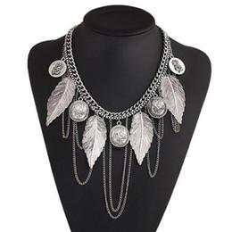 Wholesale Thai Silver Jewelry Wholesale - Statement Necklaces Collier Femme Thai Silver Coins vintage jewelry for women Bohemian Tassel Pendant Colar Necklaces
