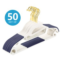 Wholesale Premium Pants - 50pcs   Pack Non-Slip Traceless Strong Suit Hangers Hold Up To 10Lbs Premium Quality Space Saving Swivel Hook