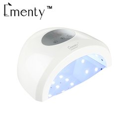 Wholesale Gel Polish Uv Led Lamps - Ementy Nail Dryer 48W Lamp UV LED Nail Dryer 30LEDs 10 30 60 90 120s Timer For Curing All Gels Manicure Nail Art Gel Polish