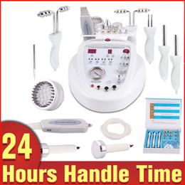 Wholesale Microcurrent Beauty Machines - 5 In 1 Diamond Dermabrasion Skin Rejuvenation Scrubber Photon BIO Microcurrent Ultrasonic Anti-aging Beauty Spa Machine