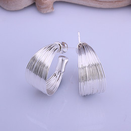 Wholesale Sterling Silver Drop Earings - 925 Sterling Silver Fashion Fewelry Trendy Silver Earrings Pendientes Brincos Silver Drop Earings Long Earrings For Women