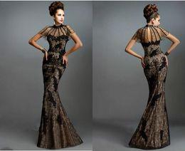 Wholesale Vestidos Formales - Black Unique Jewel Unique Beading Trumpet Mermaid Full Lace Hollow Sweetheart Vestidos Formales 2017 Sexy Prom Dresses Evening Dress